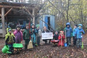 Spendenübergabe Waldkindergarten 13.11.19